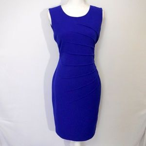 NWT New Directions Blue Sheath Dress Size 4
